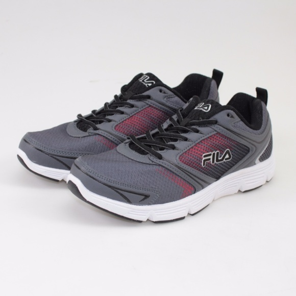 0c15017350c8 FILA Vector Grey   Red Running Shoes    Size 9 NWT
